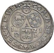 24 Kreuzer - Christian I. August, Rudolf, Ludwig and Johann Casimir – reverse