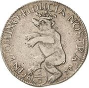 ⅔ Thaler - Johann Georg II., Viktor Amadeus, Wilhelm, Carl Wilhelm and Emanuel Lebrecht – reverse