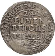 1 Groschen - Johann Georg II., Viktor Amadeus, Wilhelm, Carl Wilhelm and Emanuel Lebrecht – reverse