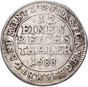 1/12 Taler - Johann Georg II., Viktor Amadeus, Wilhelm, Carl Wilhelm and Emanuel Lebrecht – reverse