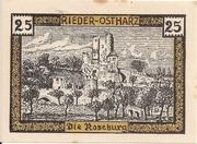 25 Pfennig (Rieder am Ostharz) -  reverse