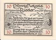 10 Pfennig (Rieder am Ostharz) -  obverse