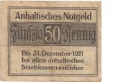 50 Pfennig (Anhaltische Finanzdirektion) – reverse