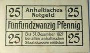 25 Pfennig (Anhaltische Finanzdirektion) – reverse