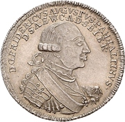 ⅔ Thaler - Friedrich August -  obverse