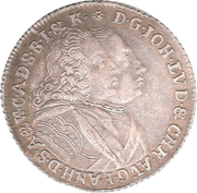 ⅔ Thaler - Johann Ludwig – obverse