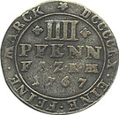 4 Pfennig - Friedrich August – reverse
