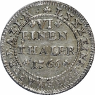 ⅙ Thaler - Friedrich August – reverse