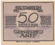 50 Heller (Anif) – obverse