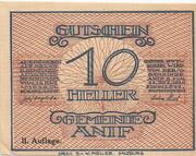 10 Heller (Anif) - 2. Auflage -  obverse