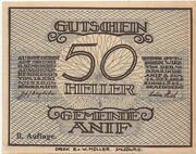50 Heller (Anif) - 2. Auflage -  obverse