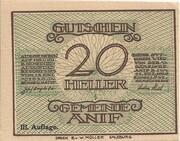 20 Heller (Anif) - 3. Auflage – obverse