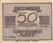 50 Heller (Anif) - 3. Auflage – obverse