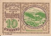 10 Heller (Annaberg) – obverse