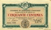 50 centimes - Chambre de commerce d'Annonay [07] – obverse