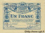 1 franc - Chambre de commerce d'Annonay [07] – obverse