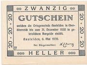 20 Heller (Ansfelden) – reverse