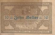 10 Heller (Antiesenhofen) – reverse