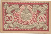 20 Heller (Antiesenhofen) – obverse