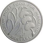 4 Dollars - Elizabeth II (FAO) – reverse