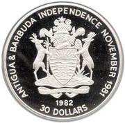 30 Dollars - Elizabeth II (Yorktown 1781) -  obverse