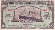 5 Dollars / 1 Pound 10 Pence (Antigua) -  obverse