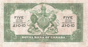 5 Dollars / 1 Pound 10 Pence (Antigua) -  reverse