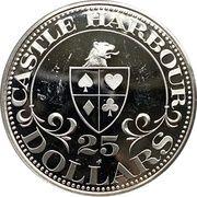 25 Dollars - Castle Harbor Club & Casino – obverse
