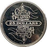25 Dollars - Castle Harbor Club & Casino – reverse