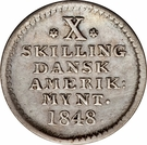 10 Skilling - Frederik VII – reverse