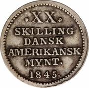 20 Skilling - Christian VIII – reverse