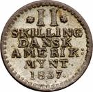 2 Skilling - Frederik VI – reverse