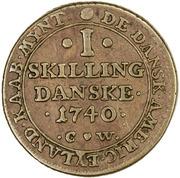 1 Skilling - Christian VI – reverse