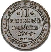 2 Skilling - Christian VI – reverse