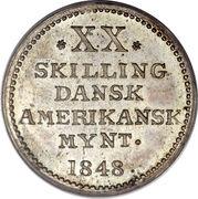 20 Skilling - Frederik VII – reverse