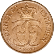½ Cent / 2½ Bit - Christian IX – obverse