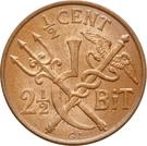 ½ Cent / 2½ Bit - Christian IX – reverse