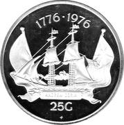 25 Gulden - Juliana (U.S. Bicentennial) – reverse