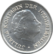 1/10 Gulden - Juliana – obverse