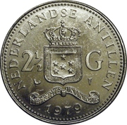 2½ Gulden - Juliana – reverse
