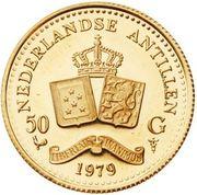 50 Gulden - Juliana (Royal Convenant) – reverse