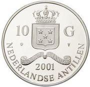 10 Gulden - Beatrix (Louis XIII Louis d'or) -  obverse