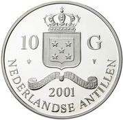 10 Gulden - Beatrix (Isabella and Albrecht Double Albertin) – obverse