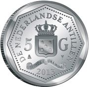 5 Gulden - Willem-Alexander (Abolition of Slavery) – obverse