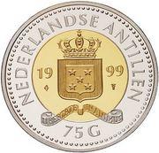 75 Gulden - Beatrix (Settlement) – obverse