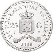 25 Gulden - Beatrix (World Wildlife Fund) – obverse