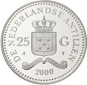 25 Gulden - Beatrix (2000 Summer Olympics) – obverse