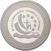 5 Gulden - Beatrix (50 Years Brishopric Willemstad) – obverse