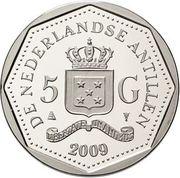 5 Gulden - Beatrix (100th anniversary of Antoine Maduro) – obverse