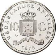 10 Gulden - Juliana (Bank of Netherlands Antilles) – reverse
